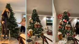 Junto a Angélica Rivera, Sofía Castro muestra parte de su casa: de la sala al árbol de Navidad