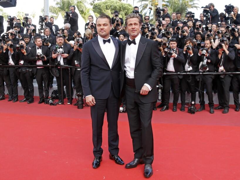 Brad Pitt y Leonardo Di Caprio cautivaron los corazones de sus fans en la alfombra roja de la proyección de Once Upon a Time in Hollywood (2019) en la 72 edición del Festival de Cannes.