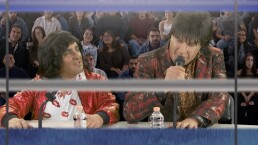 Vítor y Albertano en la pelea del Canelo vs. Jacobs