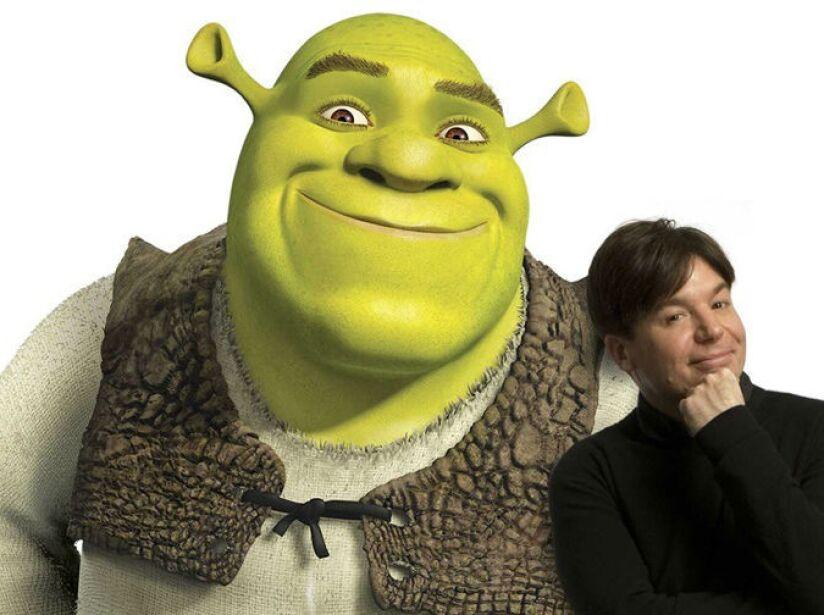 11. Mike Myers: Este comediante es la voz del ogro más famoso de Hollywood en las películas de Shrek.