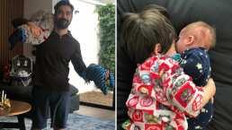 Alfonso Herrera cacha a sus hijos teniendo una 'plática de hermanos' y el momento enternece a sus seguidores