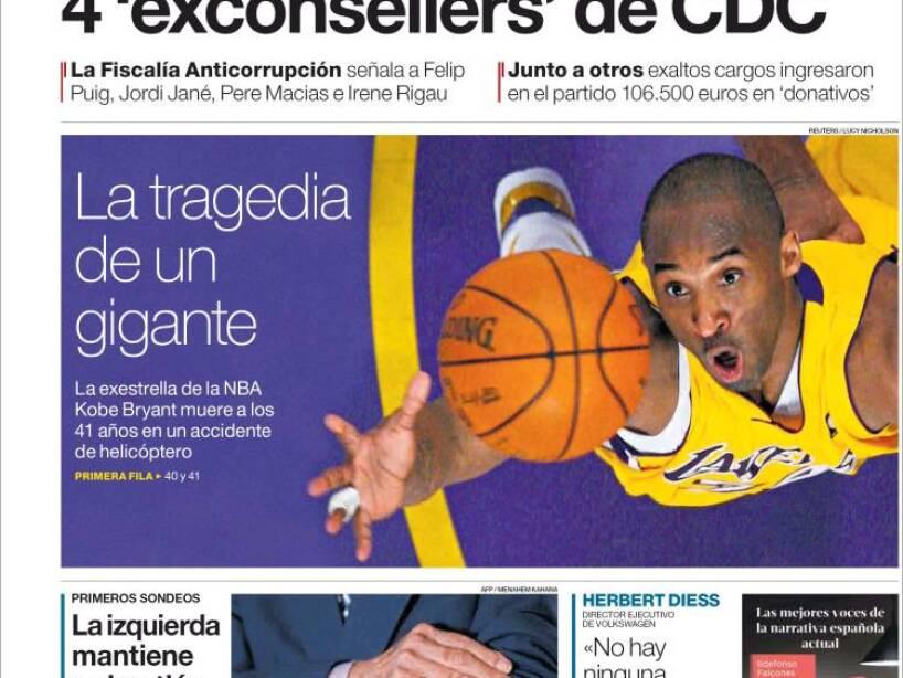 Kobe Bryant, periódico, EL PERIÓDICO.jpg