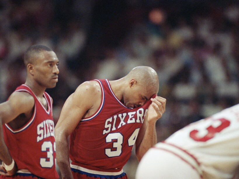 Basketball Game NBA Playoff 1991 Philadelphia vs Chicago