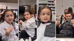 Martín Fuentes consiente a sus cinco hijas y las lleva al salón de belleza para un cambio de look