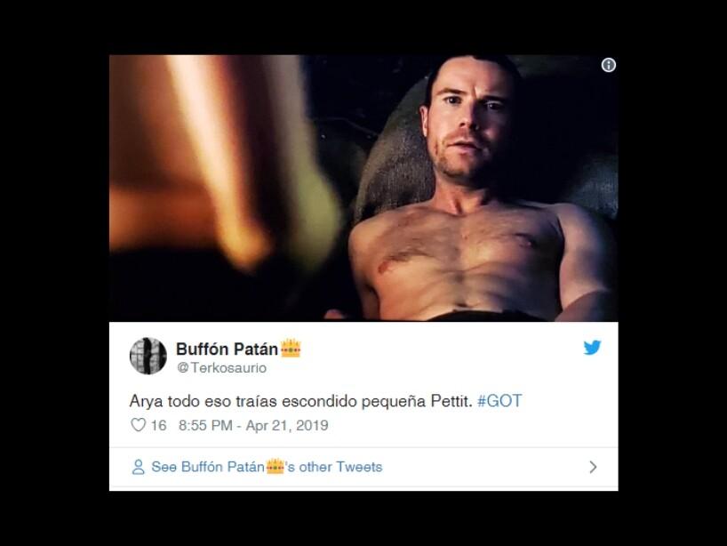 Memes sobre el desnudo de Arya Stark y su desnudo en la última temporada de Game Of Thrones