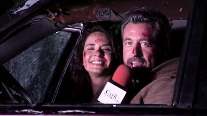 Detrás de cámaras: Accidente Damián y Carolina