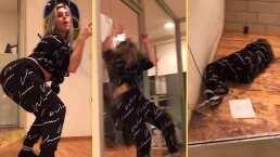 ¡Aparatoso accidente!: Lele Pons se estrella contra un vidrio mientras hace twerking para Tik Tok