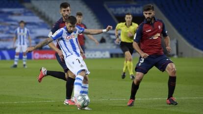 Mikel Oyarzabal anotó para la Real Sociedad al 61' luego de que Adrián adelantó al Osasuna en el minuto 29 del primer tiempo. Finalmente acordaron el empate en Estadio Municipal de Anoeta.