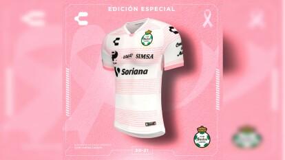 Atlas y Santos presente unos hermosos jerseys de edición especial para apoyar a la lucha frente al Cáncer de Mama en México.