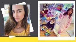 Gia, hija de Odalys Ramírez, sigue el ejemplo de su mamá y la imita haciendo ejercicio en casa