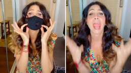 """Video: Patricia Manterola """"interpreta"""" éxito de Garibaldi versión cuarentena"""