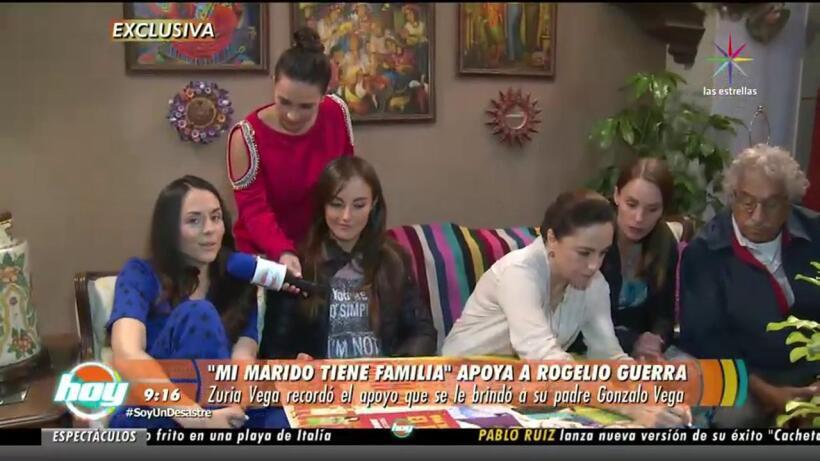 ¡Elenco de Mi Marido Tiene Familia apoya a Rogelio Guerra!