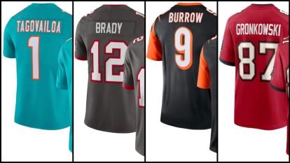 Los jerseys más vendidos en la NFL esperando el inicio de la temporoada 2020.