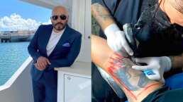 Lupillo Rivera se despide del rostro de Belinda que traía tatuado en el brazo y este es el resultado