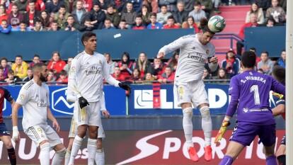 Así se elevó Sergio Ramos para anotar uno de los cuatro tantos en la goleada del Real Madrid tras su vistia ante CA Osasuna.