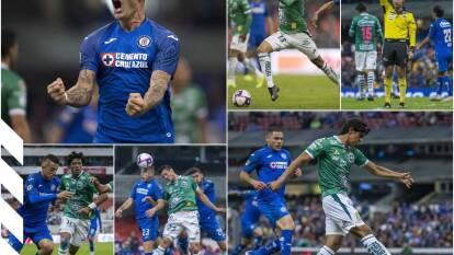 Cruz Azul vence al León 1-0 y aún aspira a llegar a la Liguilla. Caraglio marcó su gol 50 ene l futbol mexicano.