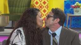 Pablo Valentín y Gaby Zamora de 'La mexicana y el güero' sorprenden besándose en programa en vivo