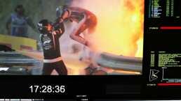 Dramático accidente en la F1 del que Romain Grosjean salió caminando