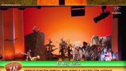 """""""El Rey León"""" dio función especial para niños y adultos con Autismo"""