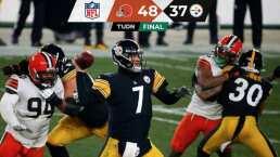 Resumen | Cleveland Browns eliminaron a los Steelers 48-37