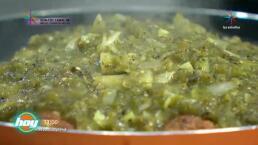 Albóndigas de amaranto con salsa de chile poblano