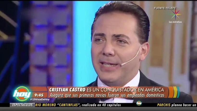 Cristian Castro ha tenido más de 15 romances por el continente