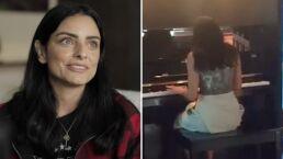 Aislinn Derbez demuestra que toca el piano como toda una profesional