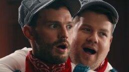 """James Corden y Jamie Dornan parodian escena de """"50 sombras de Grey"""""""
