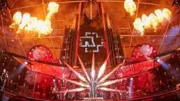 Rammstein mostró como monta su increíble escenario que llenó de fuego un estadio