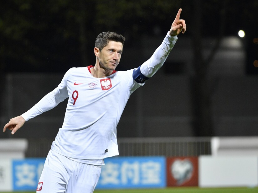 Latvia Israel Euro 2020 Soccer Robert Lewandowski