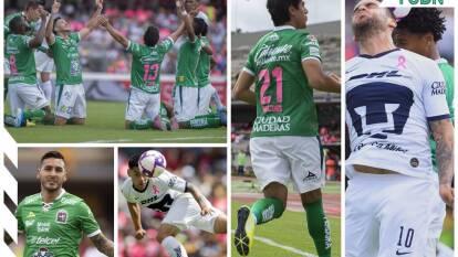 Pumas 1-2 León. Con goles de Macías y Tesillo, para La Fiera; por los locales descontó Carlos González.