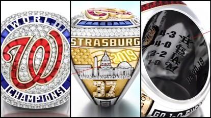El lujoso, merecido y auténtico anillo que recibirán los integrantes de los Washington Nationals, campeones de la Serie Mundial 2019.