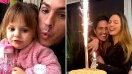 Mauricio Ochmann presume su cumpleaños al lado de dos hermosuras; sus hijas
