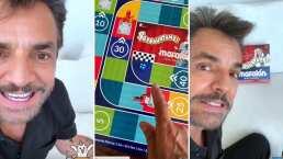 Eugenio Derbez presume su nuevo juego de mesa y muestra cómo luce por dentro