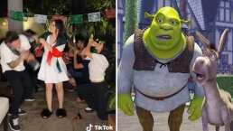 Kimberly Loaiza y Juan de Dios Pantoja protagonizan icónica escena de 'Shrek'