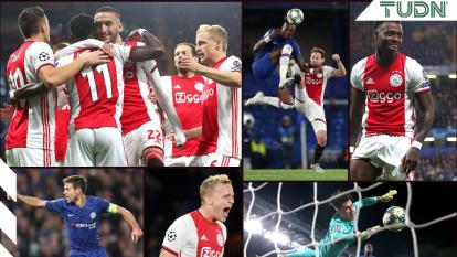 Chelsea aguantó con sólo nueve jugadores en el campo y empata con cuatro goles al Ajax.