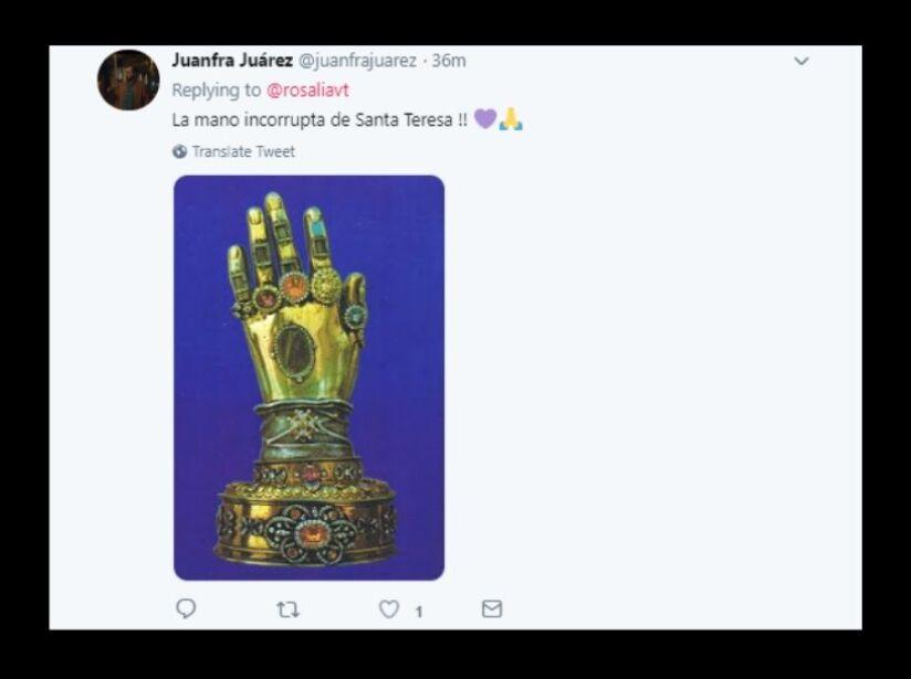 Las uñas de Rosalía recuerdan a las gemas del infinito y memes