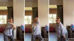 Karla Panini demuestra que puede bailar 'Bichota' en pijama y sin perder el estilo