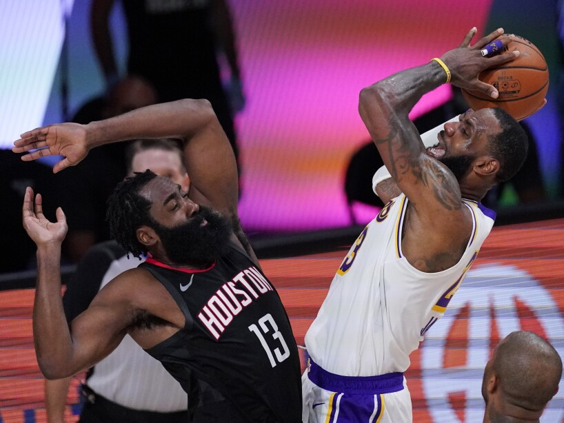 APTOPIX Lakers Rockets Basketball