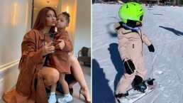 Kylie Jenner se escapa a la nieve y presume que su hija Stormi tiene talento para el snowboard