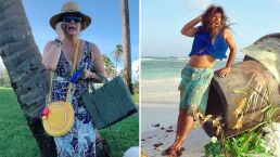 Erika Buenfil se encuentra 'perdida' en una isla y revive escena de 'La Familia P. Luche'