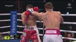 Round 2: 'Canelo' Álvarez se hace sentir ante Avni Yildirim