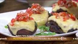 Receta: Molletes falsos de hongos Portobello