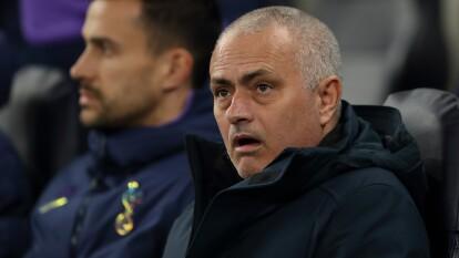 Así se quedó Mourinho al ver que su equipo perdía en casa ante Leipzig.