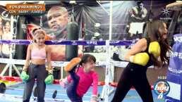 Hija de Marisol González 'knockea' a su mamá en una clase de box