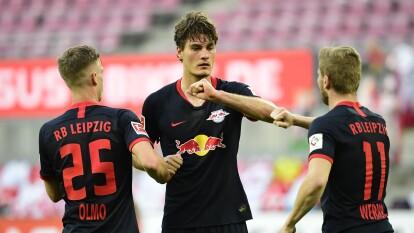 Leipzig goleó de visita al Colonia con goles de Schick (20'), Nkunku (38'), Werner (50') y Olmo (57'),