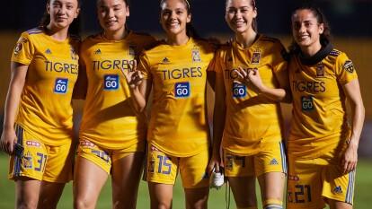 Lizbeth Ovalle, Belén Dde Jesús Cruz, Natalia Gómez Junco y María Fernanda Elizondo hicieron los goles en el triunfo de Tigres.