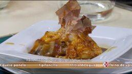 Receta: Mixiote de queso con miel de piloncillo