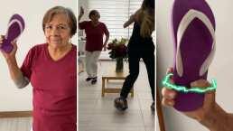 'Chancletazo no Jutsu': Esta abuelita explica el paso a paso para aventar la chancla al estilo Naruto