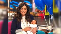 """Mariana Echeverría se conmueve con el debut de su bebé en Hoy y revela: """"Estuve a punto de perder a Lucca"""""""
